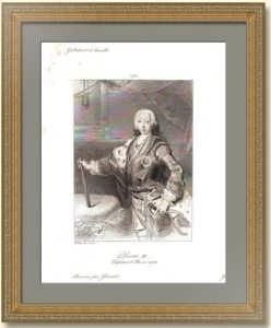 Пётр III Фёдорович. Портрет. 1838г. Антикварная гравюра.