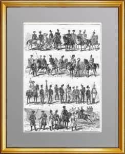 Униформа российской армии. 1877г. Антикварная гравюра, подарок патриоту