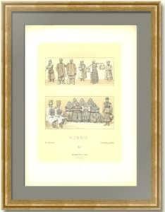 История костюма. Россия 6. 1888г. Антикварная литография