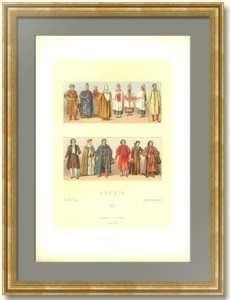 История костюма. Россия 2. 1888г. Антикварная литография