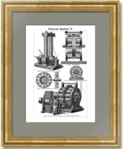 Электрические генераторы IV. 1896г. Антикварный подарок электрику, энергетику