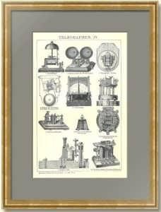 Tелеграф IV. 1896г. Антикварная гравюра.