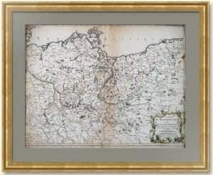 Семилетняя война. Карта Бранденбурга и Померании с лимитрофами. 1758г. Редкость!