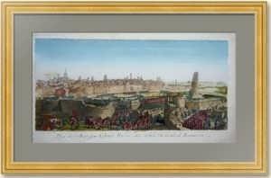 Взятие Кольберга Румянцевым. 1762г. Музейный экземпляр. Старинная гравюра