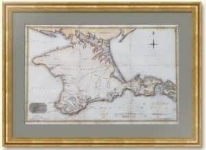Крымские древности. 1810г. Следы античности по Кларку. Старинная карта