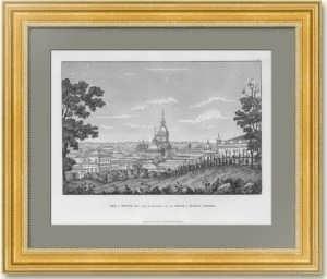 Москва, вид с холма рядом с Церковью Николая Чудотворца в Воробине. 1810г. Старинная гравюра