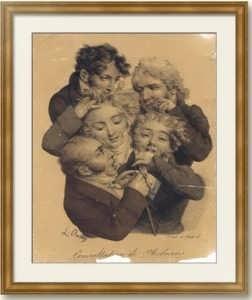 Буальи. Медицинская консультация. 1823г. Музейный экземпляр. Старинная литография.