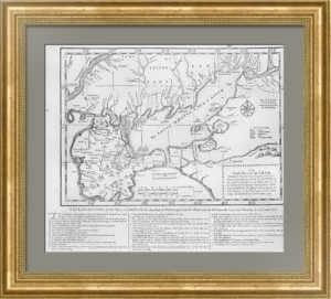 Крым. Русско-турецкая война (1735—1739). Старинная карта. 1739г.
