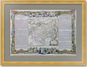 1766г. Россия Азиатская (Тартария). Старинная карта.