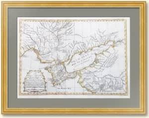 Русско-турецкая война (1768—1774). Крым. Азов. Днепр. 1769г. Старинная карта