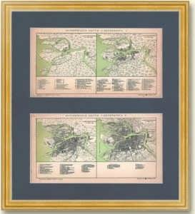 Санкт-Петербург на исторических планах. 1899г. Старинная литография