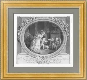 Это папа! 1792г. Горп/Лоне. Антикварная гравюра - музейный экземпляр