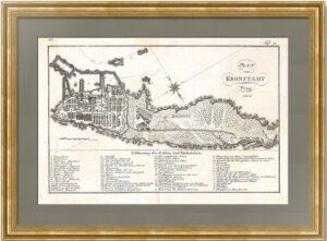 Кронштадт. Старинный подробный план. 1808г. Подарок ценителю истории России