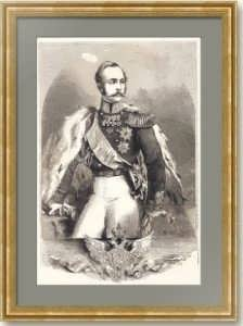 Александр II. Гравированный портрет. 1864 г. Ботман / Смит