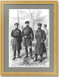 Главнокомандующие российской армии. 1877г. Никитин/Джанет. Старинная гравюра