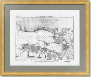 Глубины Финского залива. 1881г. Военно-морская обзорная карта