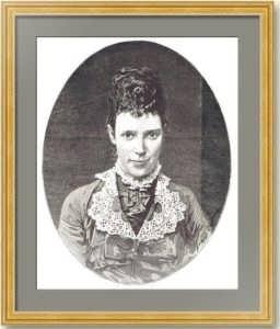 Мария Федоровна Романова. Гравированный портрет. 1882г. Левицкий / Тириат