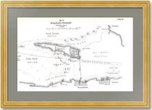 Кронштадт - военный порт. 1905г. Австрийская военная план-схема укреплений