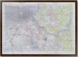 Ленинград - артиллерийская карта вермахта. 1942г.