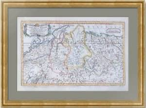 Европейская Россия, Сибирь и Казахстан. 1759г. Старинная гравированная карта