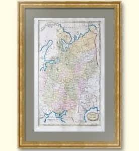 Московия или Россия в Европе. 1813г. Старинная карта - достойный подарок руководителю