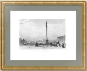 Александровская колонна в Петербурге. 1835г. Викерс/Ёрден. Антикварный подарок