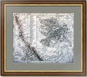 Санкт-Петербург. Старинный план города. 1847г. Джозеф фон Шеда. Редкость!