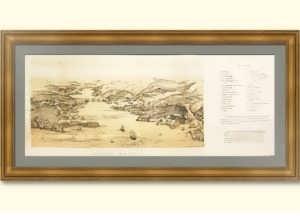 Севастополь со стороны моря. 1874г. Старинная литография. Лист 22х54.