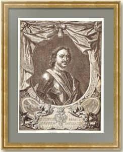 Пётр I.  1887г. С пожизненного портрета Моора 1717 года. Москва