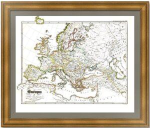 Европа в восемнадцатом веке. 1846г. Старинная историческая карта
