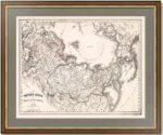 Имперо Руссо в Европе, Азии и Америке. 1860г. Чивелли.  Антикварный подарок