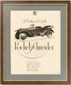 Роше-Шнейдер. 1919г. Оригинальный рекламный плакат