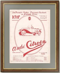Ситроен «Тип А» - первый автомобиль Citroën. 1919г. Оригинальный рекламный плакат