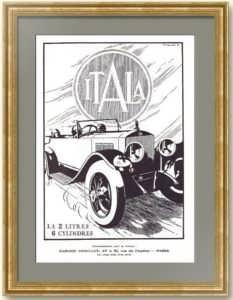 Итала. Легендарный автомобиль. 1926г. Оригинальный рекламный плакат