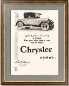 Крайслер. 1926г. Оригинальный рекламный плакат