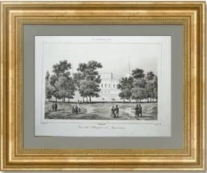 Петербург, Инженерный замок со стороны Марсова поля (Царицын луг). 1838г. Старинная гравюра
