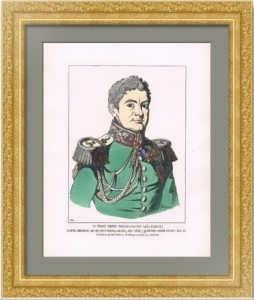 Портрет генерала, князя П.М. Волконского. Жакмин. 1869г. Музейный экземпляр. Антикварная гравюра