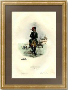 Молодой русский зимой (коньки). 1843г.
