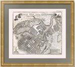Петербург. Старинный план города. 1737-1750гг. Редкость.