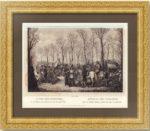 Русская армия в Париже в 1814 году. Старинная гравюра. 1841г. Опиц