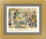 Мазепа мстит графу Палатину. 1855г. Старинная литография