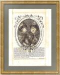 Пётр I и Иван Алексеевичи. 1685г. Прижизненный портрет. Старинная оригинальная гравюра