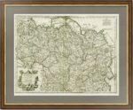 Карта Тартарии. 1706г. Делиль. Роскошный VIP подарок. Россия на антикварной карте
