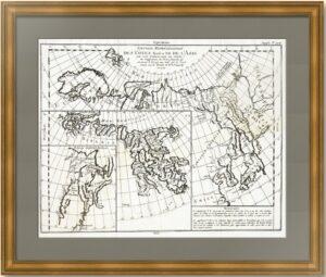 Северный морской путь. 1772г. Старинная карта.