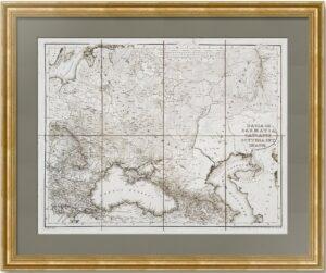 Сарматия (Восточная Европа). 1826г. Старинная карта - музейный экземпляр. 47x60