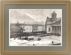 Петербург. Празднование двухсотлетия Петра I. 1872г. Старинная гравюра