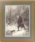 Охота. 1881г. Гравюра на дереве. Антикварный подарок охотнику