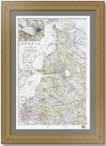 Россия. Северо-запад с Финляндией. 1894г. Старинная карта