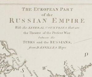 Российская империя. 1772г. (53х128) Старинная оригинальная карта