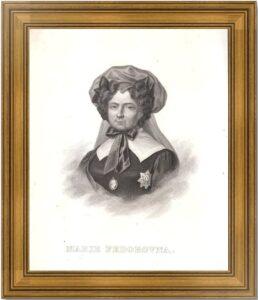 Мария Фёдоровна, императрица. 1827г. Доу/Дюпре. Старинный гравирванный портрет